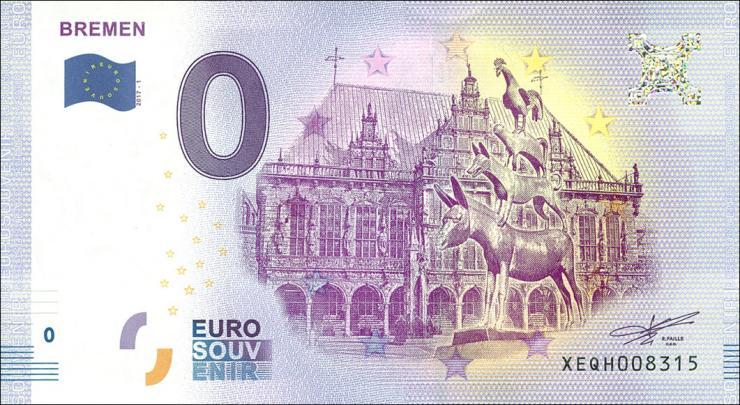 0 Euro Souvenir Schein Bremen (1)