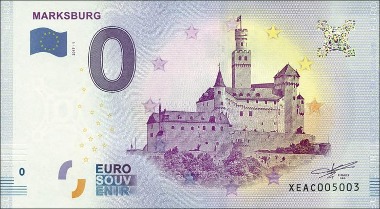 0 Euro Souvenir Schein Marksburg (1)