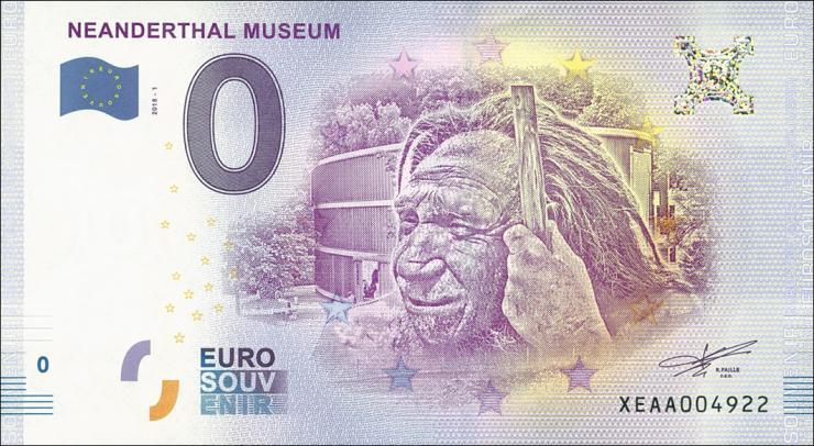 0 Euro Souvenir Schein Neanderthal Museum (1)