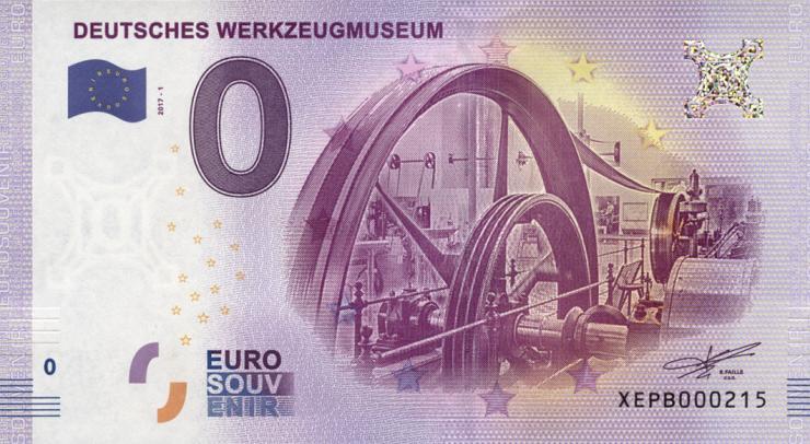 0 Euro Souvenir Schein Deutsches Werkzeug-Museum (1)