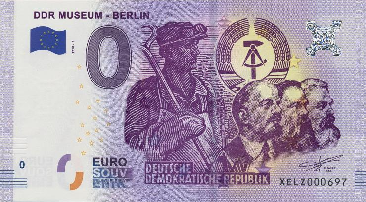 0 Euro Souvenir Schein DDR Museum Berlin III (1)