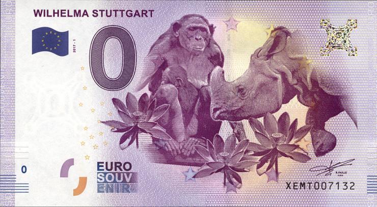 0 Euro Souvenir Schein Stuttgart - Wilhelma (1)