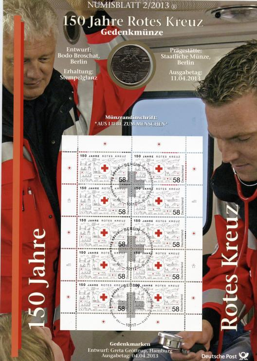 2013/2 150 Jahre Rotes Kreuz - Numisblatt