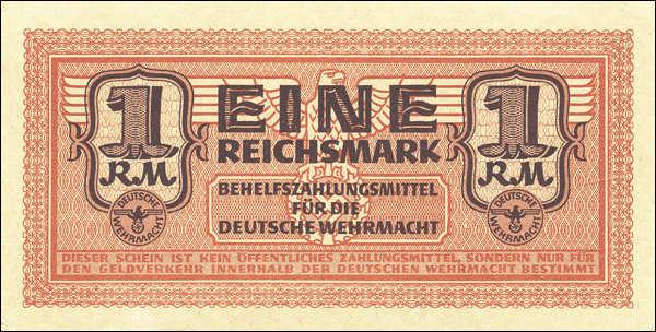 R.505: Wehrmachtsausgabe 1 Reichsmark (1942) (1/1-)