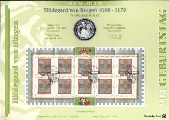 1998/2 Hildegard von Bingen - Numisblatt