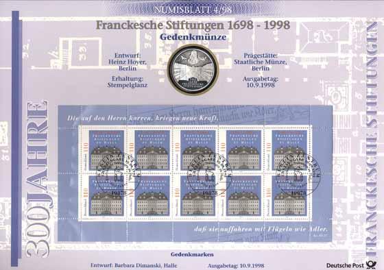 1998/4 Franckesche Stiftung - Numisblatt