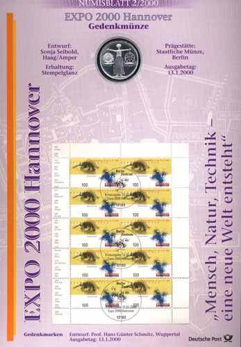 2000/2 Expo 2000 Hannover - Numisblatt