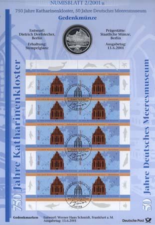 2001/2 Katharinenkloster Stralsund - Numisblatt