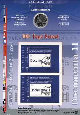 2002/3 Documenta - Numisblatt