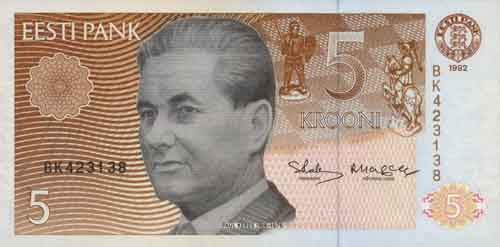 Estland / Estonia P.71a 5 Kronen 1991 (1)