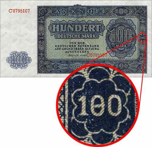 "R.346F 100 DM 1948 Plattenfehler ""180"" (1)"