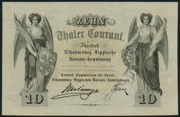 A-468 Schaumburg - Lippe 10 Thaler 1857 (1)