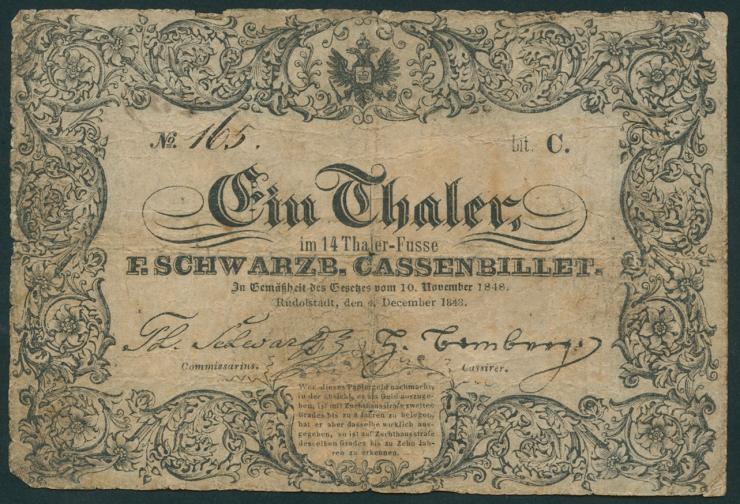A-496: Schwarzburg-Rudolstadt 1 Taler 1848 (5)