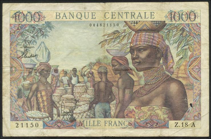 Äquat.-Afrikan.-Staaten P.05e 1000 Francs (1963) (4)