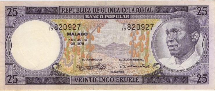 Äquatorial-Guinea P.09 25 Ekuele 1975 (1)