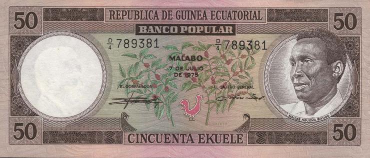 Äquatorial-Guinea P.10 50 Ekuele 1975 (1)