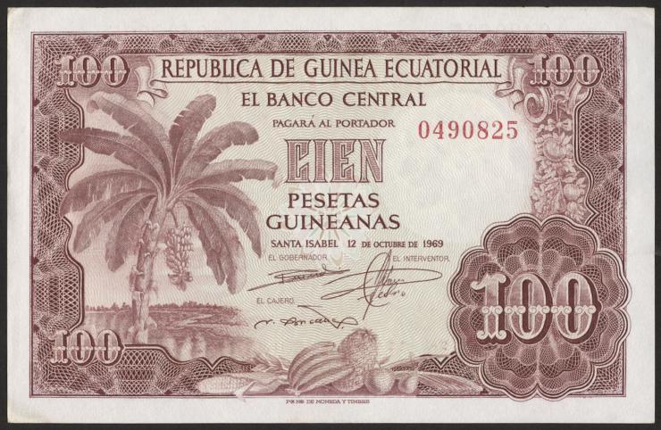Äquatorial-Guinea P.01 100 Pts.Guineanas 1969 (1)