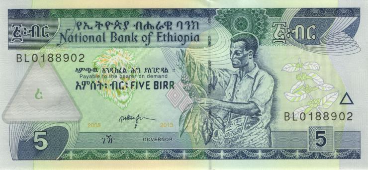 Äthiopien / Ethiopia P.47f 5 Birr 2013 (1)