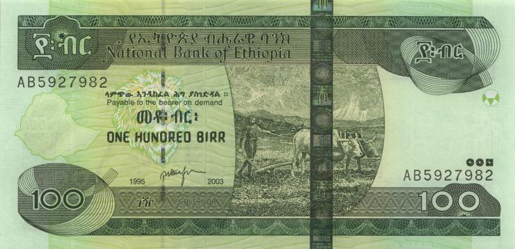 Äthiopien / Ethiopia P.52a 100 Birr 2003 (1)