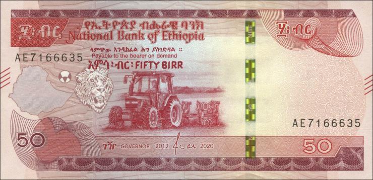 Äthiopien / Ethiopia P.Neu 50 Birr 2020 (1)