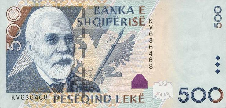 Albanien / Albania P.72b 500 Leke 2015 (1)