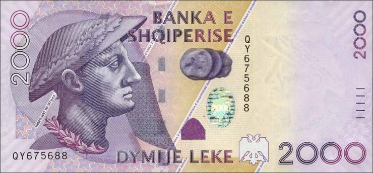 Albanien / Albania P.74b 2000 Leke 2012 (1)