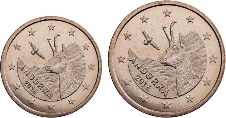 Andorra Euro-KMS 1 + 2 Cent 2014