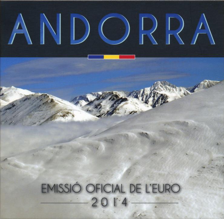 Andorra Euro-KMS 1 Cent - 2 Euro 2014 im Folder