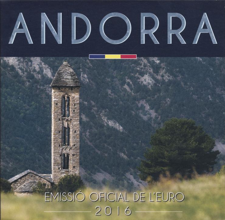 Andorra Euro-KMS 1 Cent - 2 Euro 2016 im Folder