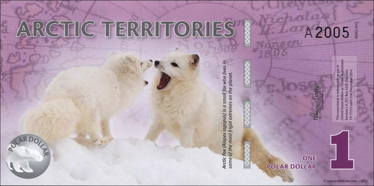 Arctic Territories 1 Dollar 2012 Polymer (1)
