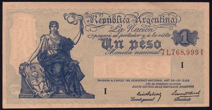 Argentinien / Argentina P.251 1 Peso (1935) (1-)
