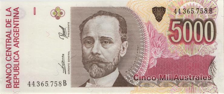 Argentinien / Argentina P.330d 5000 Australes (1989-91) (1)