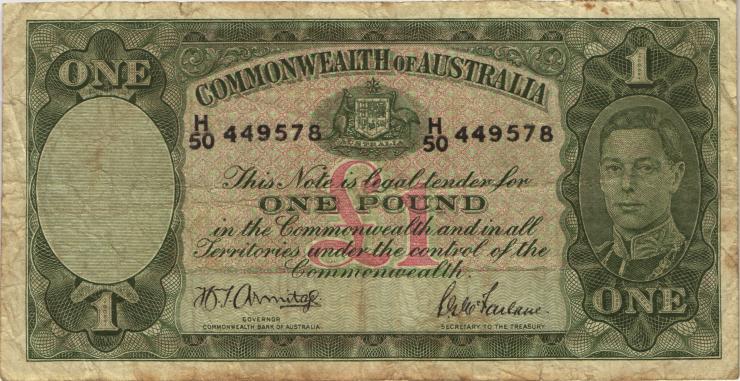 Australien / Australia P.26b 1 Pound (1942) (4)