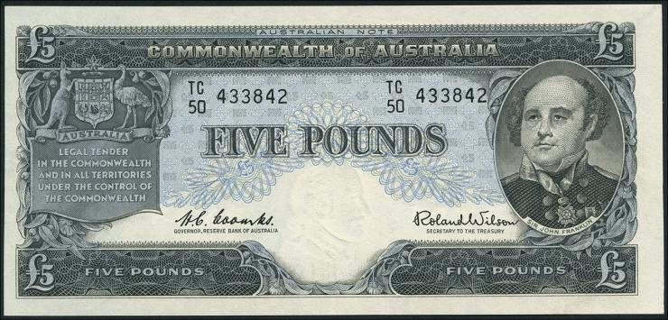 Australien / Australia P.35a 5 Pound (1960-65) (3)