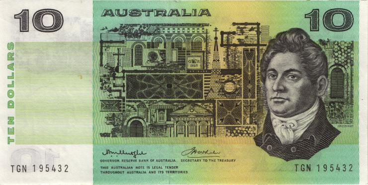 Australien / Australia P.45b 10 Dollars (1976) (3+)
