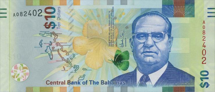 Bahamas P.n79 10 Dollars 2016 (1)