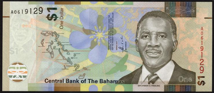 Bahamas P.77 1 Dollar 2017 (1)