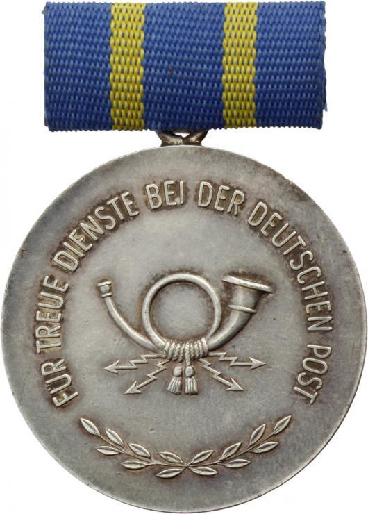 B.0181c Treue Dienst Medaille Post Silber