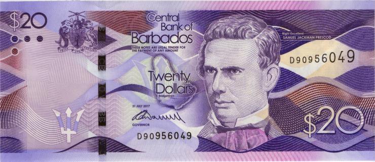 Barbados P.76b 20 Dollars 2017 (1)