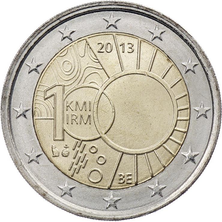 Belgien 2 Euro 2013 100 J. Königliches Meteorologisches Institut