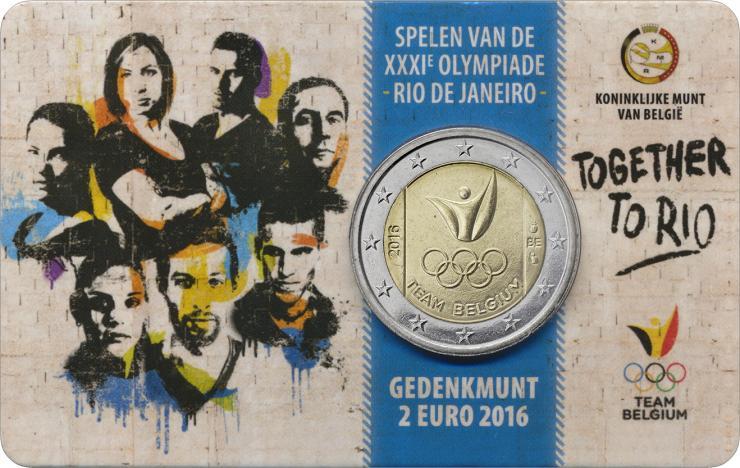 Belgien 2 Euro 2016 Olympische Spiele Rio - Team Belgien (fläm.)