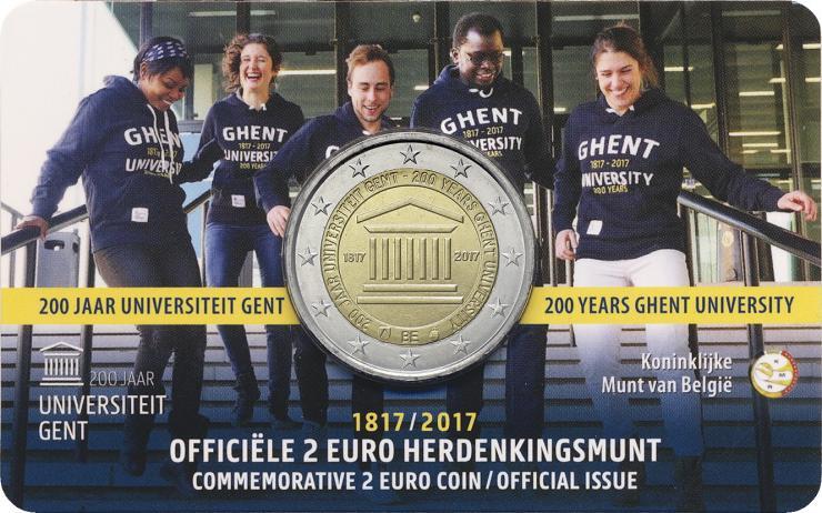 Belgien 2 Euro 2017 200 Jahre Universität Gent (fläm.)