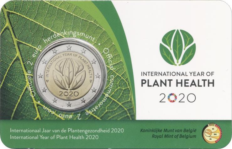 Belgien 2 Euro 2020 Internat. Jahr der Pflanzengesundheit (fläm.)