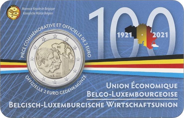 Belgien 2 Euro 2021 Belgisch-Luxemburgische Wirtschaftsunion (wall.)