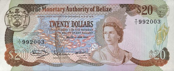 Belize P.41 25 Dollars 1980 (1)