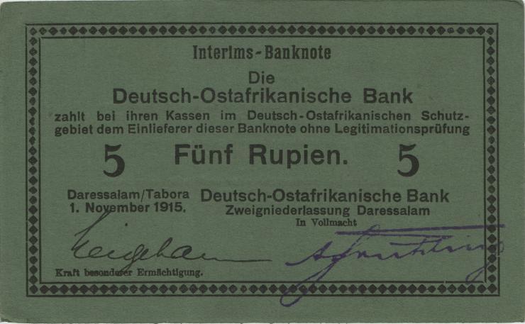 R.921e: Deutsch-Ostafrika 5 Rupien 1915 E (1/1-)