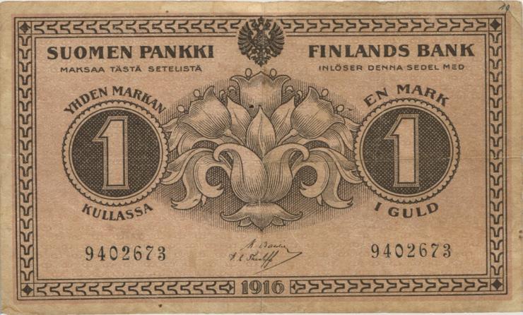 Finnland / Finland P.019 1 Markka 1916 (4)