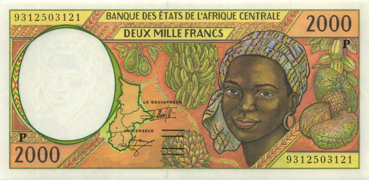 Zentral-Afrikanische-Staaten / Central African States P.603Pa 2000 Francs 1993 Tschad (1)