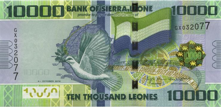 Sierra Leone P.33d 10.000 Leones 2018 (1)