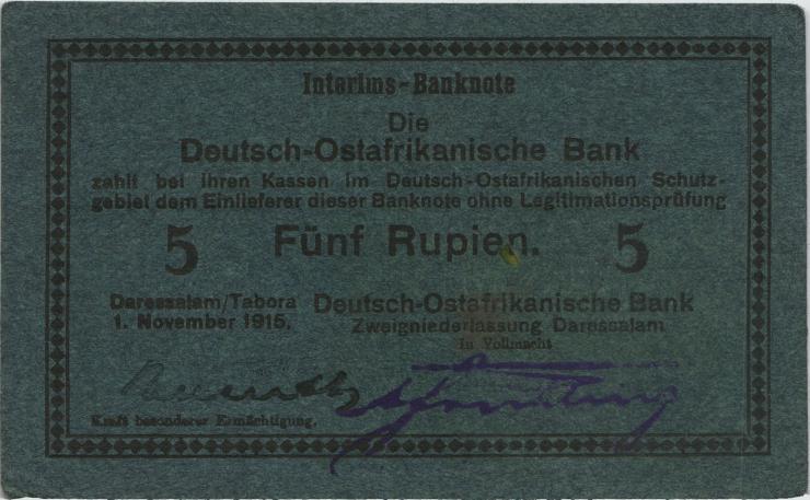 R.921Ag: 5 Rupien 1915 E (1/1-)